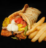 Cajun Chicken Gyro